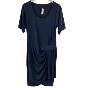 THE LIMITED Short Sleeve Knit Faux Wrap Dress